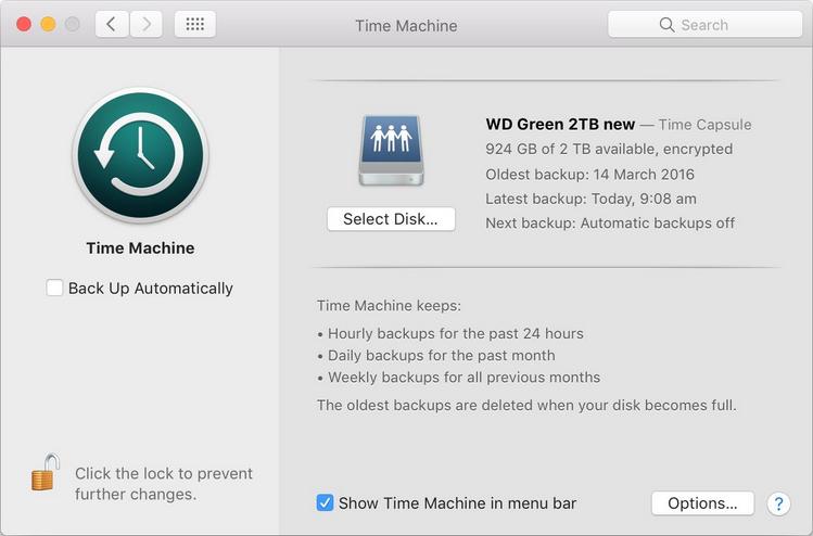time machine macOS