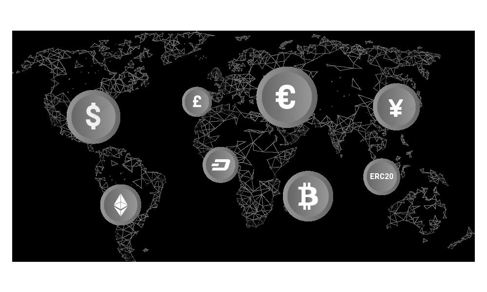 cryptocurrencies worldmap